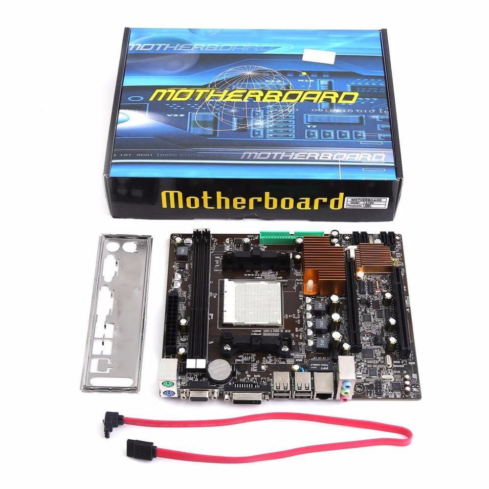 Freeshipping A780 Prático Desktop PC Computador Motherboard Mainboard AM3 Suporta DDR3 Dual Channel AM3 16G Armazenamento De Memória