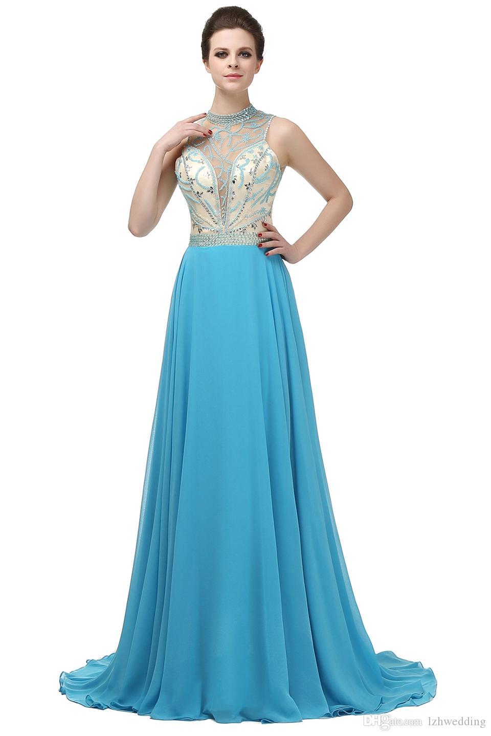 94ed40c54 ... Vestido de noche azul marino con trenzado largo Vestido de noche formal  de tul cristalino largo ...