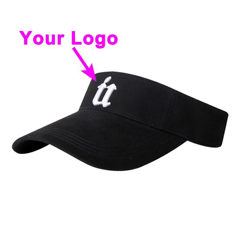 Güneş şapka taç olmadan 100% pamuk yetişkin büyük boy ayarlanabilir boyutu tenis golf vizör şapka beyzbol özel kap ücretsiz kargo
