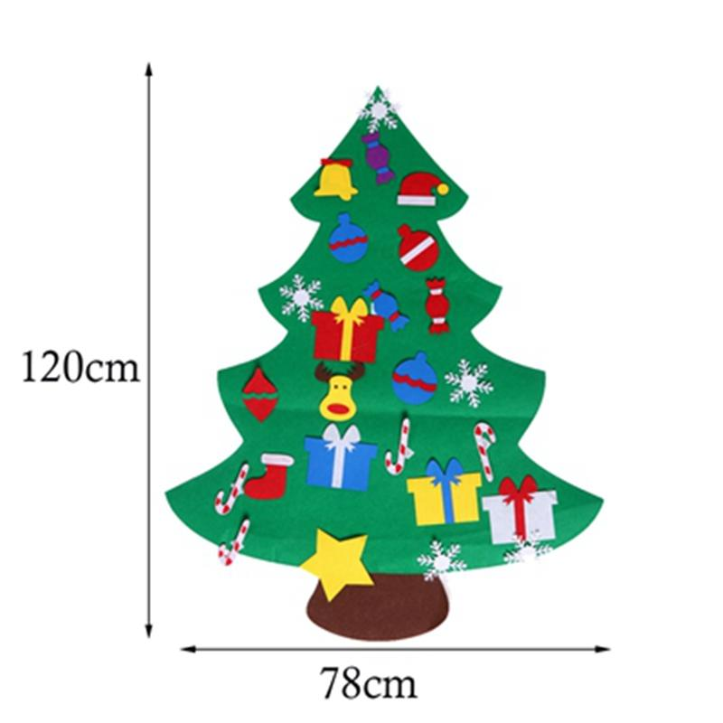 Gift Box Christmas Gifts for 2018 Kid DIY Felt Christmas Tree with Ornaments New Year Decoration Door Wall Hanging Decoration