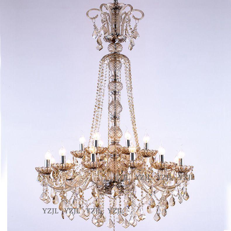 Staircase crystal chandelier Dining Room Loft hotel Project Villa Duplex building Revolving Modern crystal chandelier light chandelier