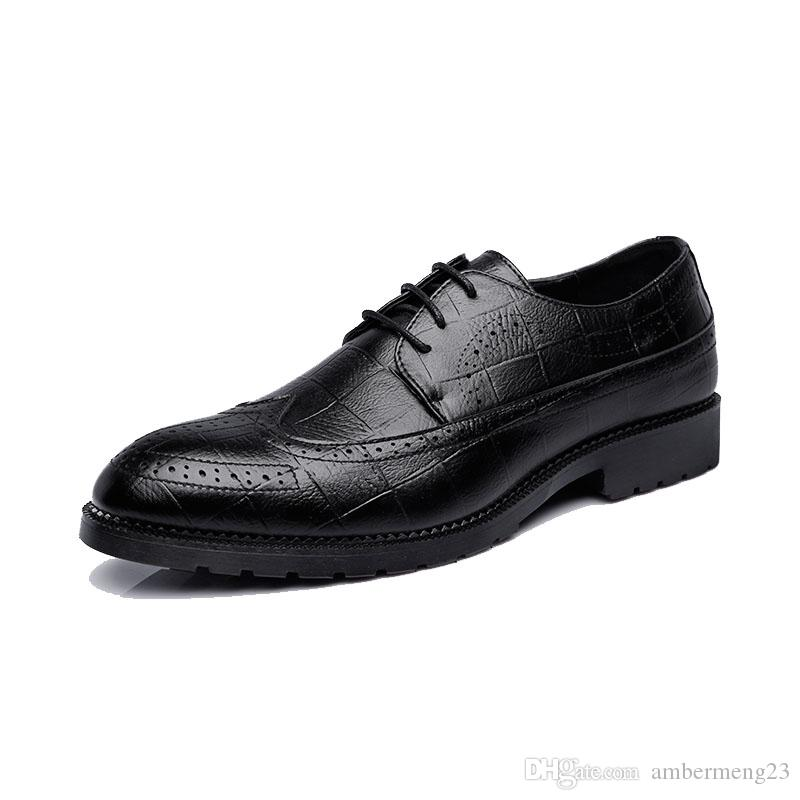 Oxfords Dress Shoes US 13 14 big yards Derby Luxury leather Brogue Women Mens Flats Shoes Casual British hand-made quality vintage