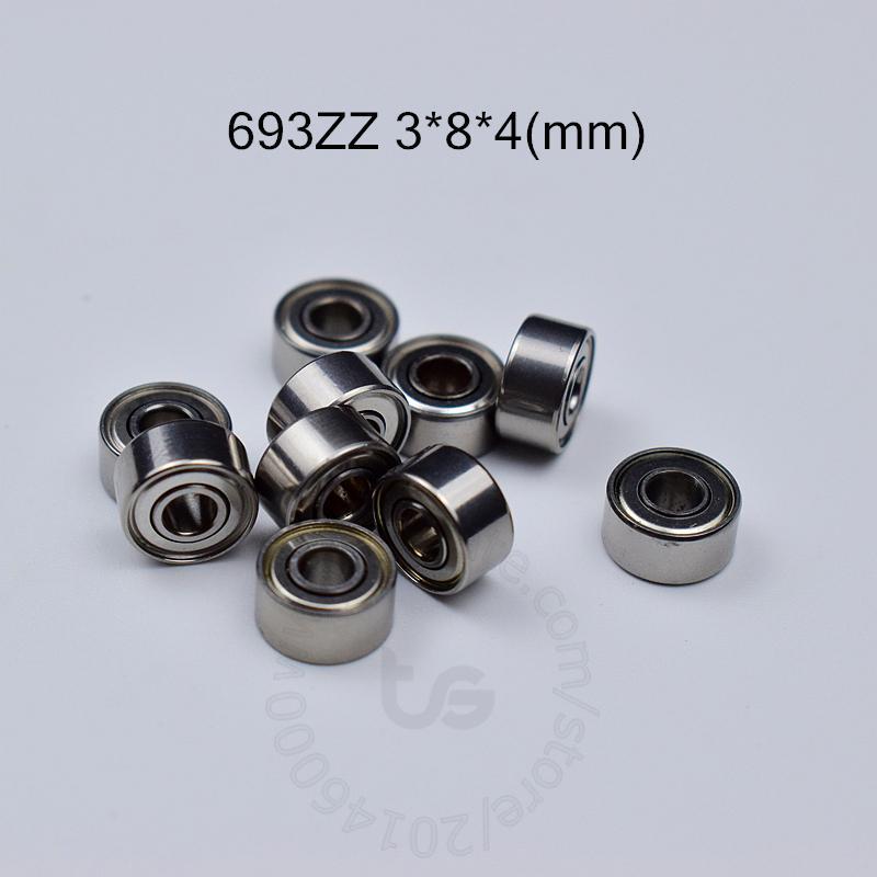 693ZZ rolamento ABEC-5 10pcs metal selado em miniatura Mini rolamento 693 693Z 693ZZ 3 * 8 * aço 4MM cromo ABEC-5