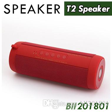 T2 Wireless Best Bluetooth Speaker Waterproof Portable Outdoor Wireless Mini Column Box Speakers Support TF Card Boombox free 20pcs