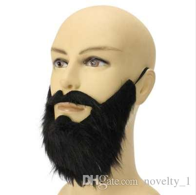 Gorgeous False beard Moustache props Masquerade Halloween New Year Christmas Party mask decoration boda 0273