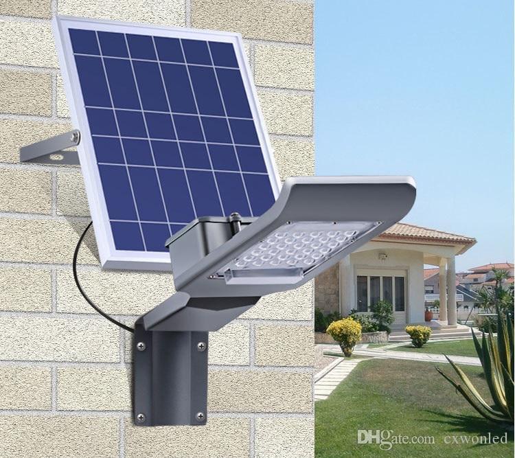 2018 neue Solar Street-Licht 20W 30W 40W 50W 100W Hohe Helligkeit LED-Flutlicht Wasserdichte IP65-Außenwandleuchte mit Fernbedienung