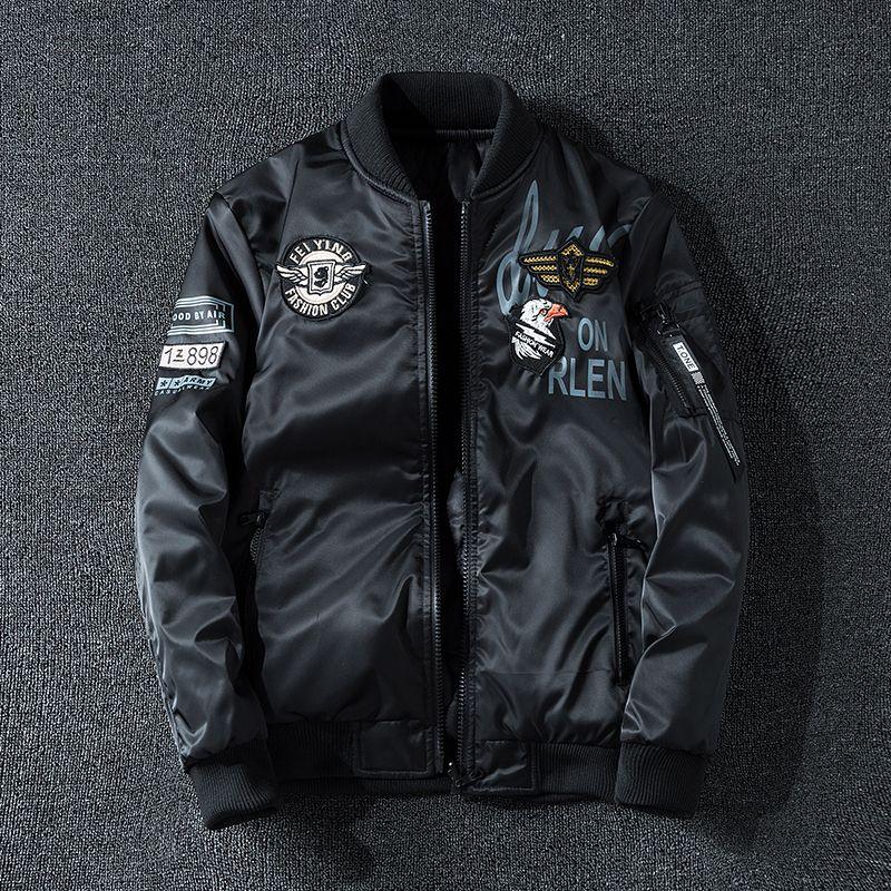 Nueva chaqueta de bombardero coreano Slim guapo uniforme de béisbol de doble cara