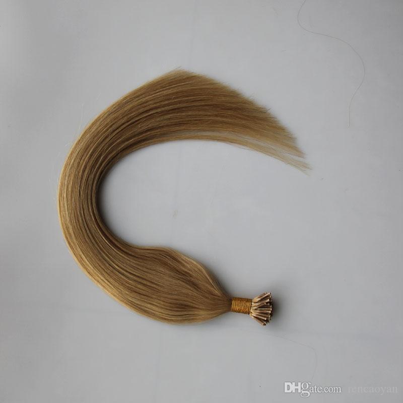 Fusion Hair Extensions Straight Pre Bonded Human Hair 100g Remy Keratin European Human Hair On Capsule