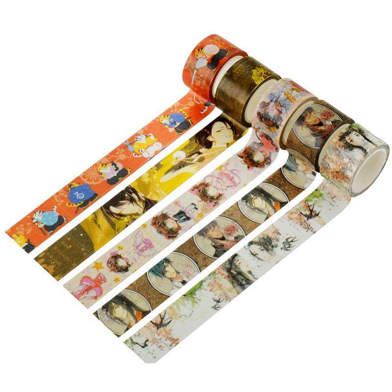 Japanese Vintage Adhesive Washi Tape Washitape Cute Anime Character Wash Papeleria Kawaii Stationery Store Escritorio Deco Items 2016