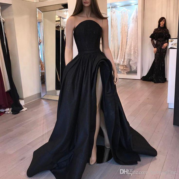 Nouvelle arrivée robes de soirée de soirée noire