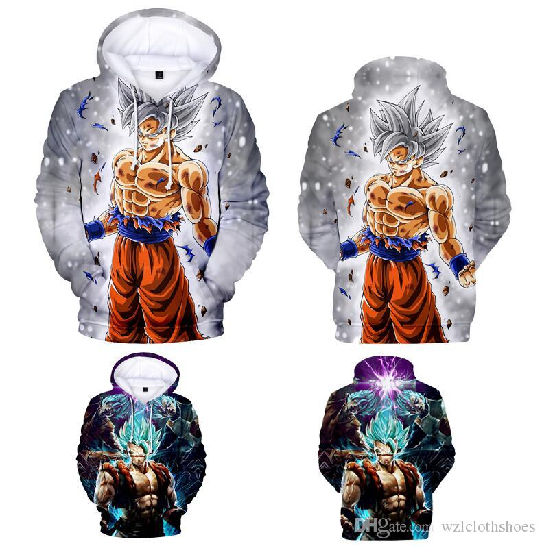 Fashion Women Men 3D Print Hoodie Goku Kid Black Sweatshirt Casual Pullover Tops