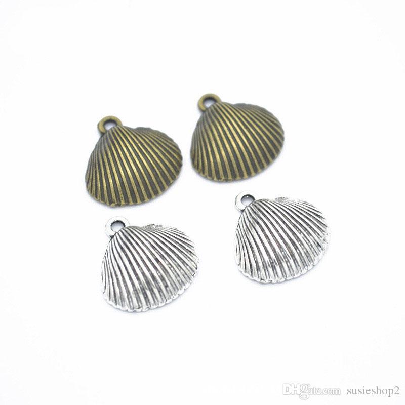 Bulk 300 sztuk / partia Duży Shell Charms Wisiorek 17 * 17 mm Dobry dla DIY Craft, Tworzenie biżuterii