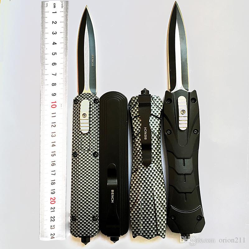 Benchmad BM3200 A020 الكلاسيكية المحمولة d2 سبائك الألومنيوم التخييم في الهواء الطلق سطح ألياف الكربون كامب للطي شفرات سكين