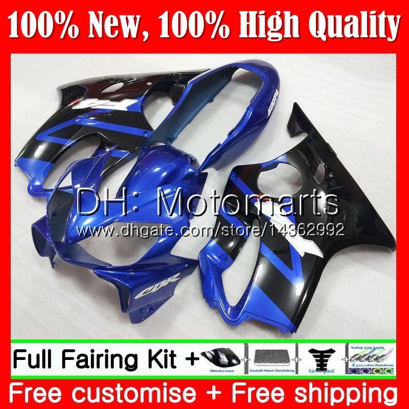 Azul negro Cuerpo para HONDA CBR 600F4i CBR600 F4i 04 05 06 07 45MT1 CBR 600 F4i CBR600 FS CBR600F4i 2004 2005 2006 2007 Fairing Bodywork