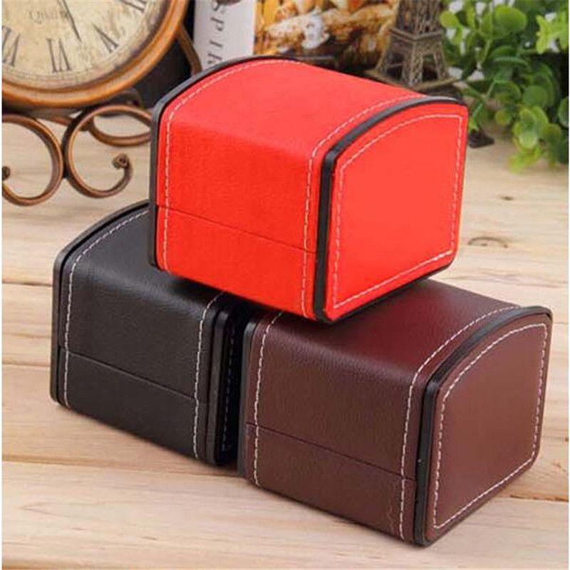 Fashion Watch Box Durable PU Leather Watch Boxes Bracelet Bangle Jewelry Wrist Watch Display Case With Pillow Gift Storage Box