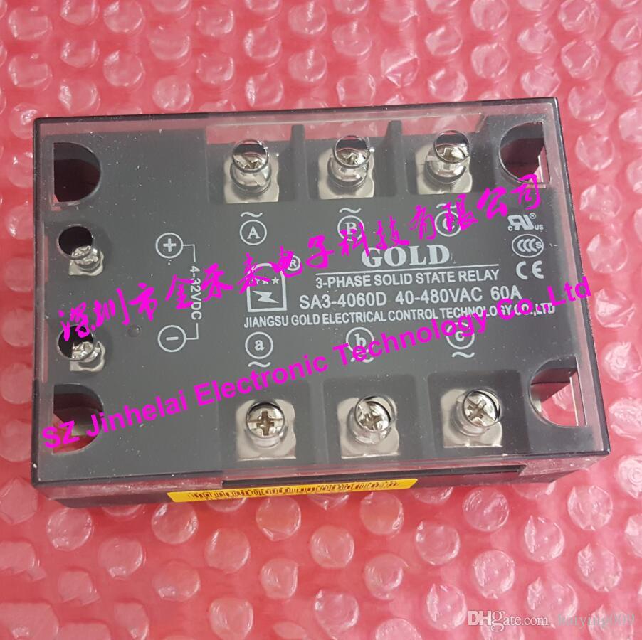جديدة ومبتكرة SA34060D SA3-4060D GOLD ثلاث مراحل تتابع الحالة الصلبة 40-480VAC 60A