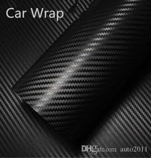 Car Vinyl Film Wrap 3D Carbon Fiber Vehicle Interior Exterior Decoration Black 127*10 cm 20cm 30cm Car Stickers