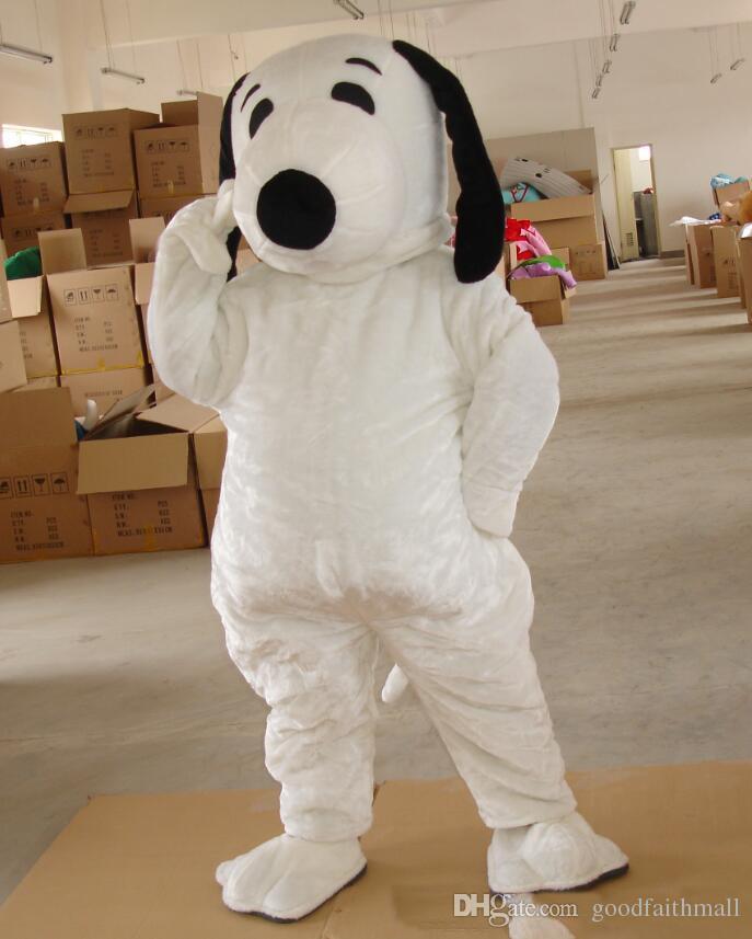 2018 высокое качество EPE взрослый размер Снупи собака костюм талисмана Хэллоуин Chirastmas партия необычные платья