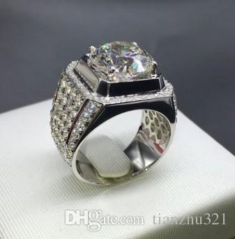 énorme réduction 5e45d 96b34 Acheter Cristal De Diamant Noble Taille De Bague Pour Homme En Argent 925 8  9 10 11 12 13 15 Dsfd De $16.09 Du Tianzhu321 | DHgate.Com