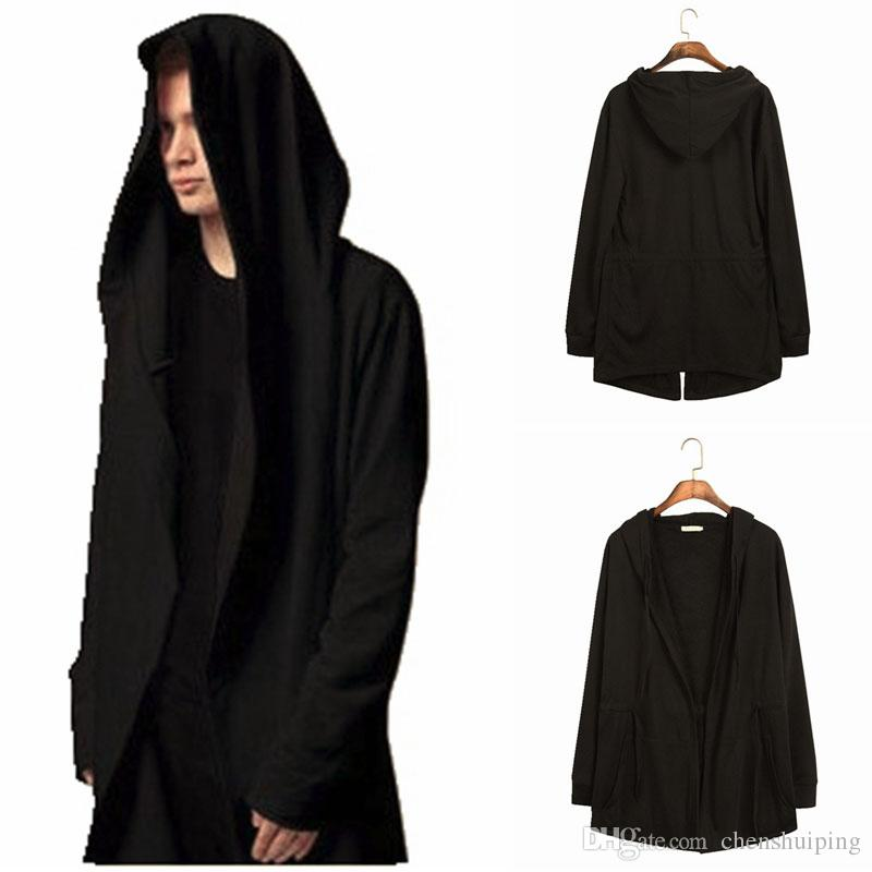 New Arrival Avant-garde Coat Mens Hooded Hoodies Sweatshirts Cloak Assassins Creed Jacket Outwear Oversize Free shipping