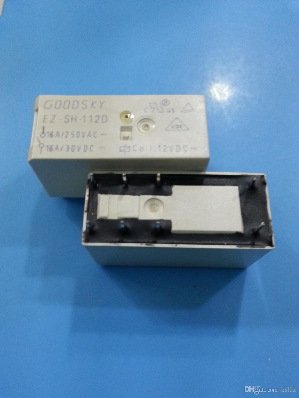 Expédition gratuite lot (5 pièces / lot) 100% Original Nouveau relais de puissance GOODSKY EZ-SH-112D EZ-SH-124D EZ-SH-1110D 16A 12VDC 24VDC 110VDC