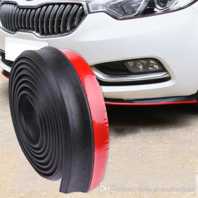 2.5m / 8.2ft 자동차 스타일링 자동차 범퍼 스트립 테이프 고무 성형 스플리터 외부 앞 범퍼 립 자동차 스티커 프로텍터 액세서리
