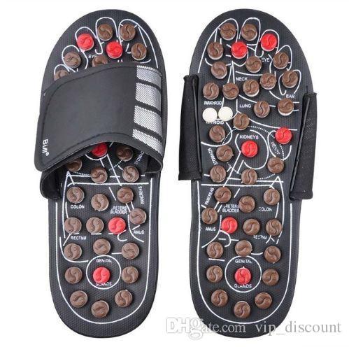 Masaje de pies Zapatillas Salud Zapato Sandalia Masajes Reflexología Pies Ancianos Cuidado Sano Producto Resto Guijarro Piedra Masajeador Zapatos