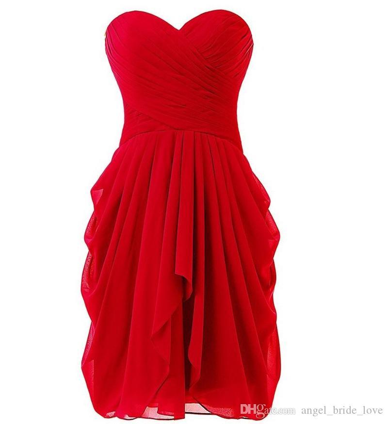 2018 Sexy Sweetheart Knee-Longitud A-LIGHT A-LINE Pleat Pleat Vestidos de fiesta con chifón de encaje hacia arriba Tallas grandes Vestidos de fiesta Vestidos formales Vestido de Festa BP02