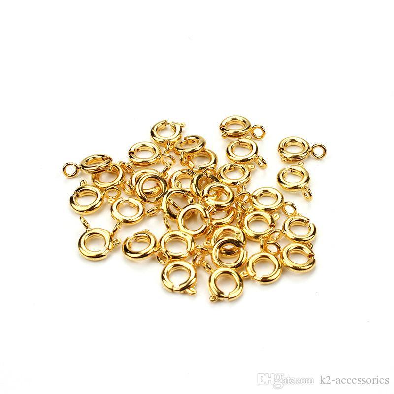Corchetes redondos de la aleación 100pcs / lot, gancho de DIY para la fabricación de la pulsera del collar de la joyería