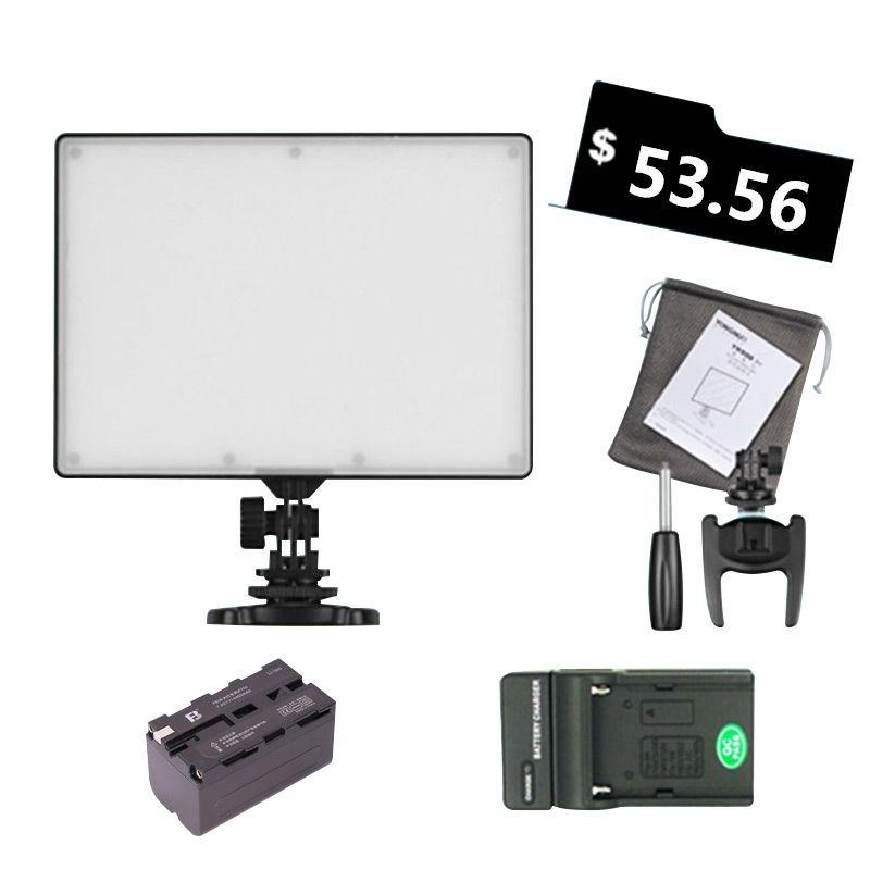 도매 YONGNUO YN300 YN-300 공기 LED 카메라 비디오 빛 3200-5500K NP-F750 디코딩 된 배터리 + 캐논 캐논 니콘 캠코더