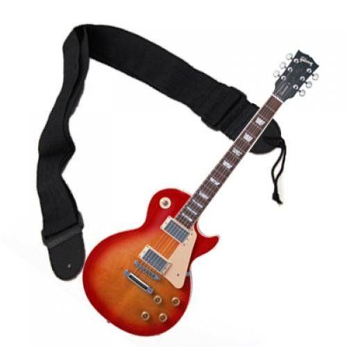 Bracelet en nylon ajustable pour guitare acoustique - noir