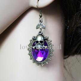 Hot Style bijoux européen et américain Halloween festival de fantômes tête de mort tête boucle d'oreille style rétro boucles d'oreilles élégant classique élégance exquise