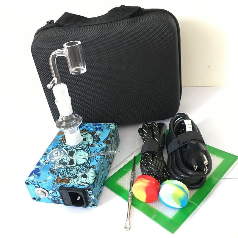 Cuarzo Banger E clavo Enail kits PID controlador de temperatura caja de clavos dab eléctrico 14mm 18mm 2in1 con bobina calentador 20mm