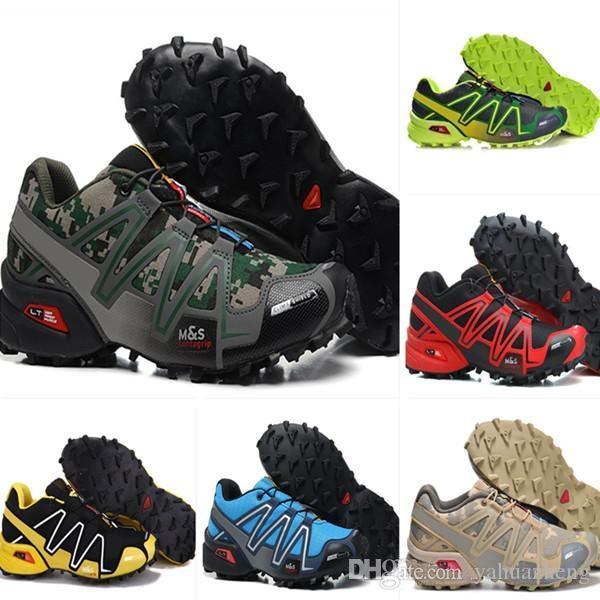 Venta al por mayor 2017 Zapatillas Baratas Speedcross 3 zapatillas de deporte de los hombres de alta calidad caminar al aire libre zapatos deportivos tamaño atlético Eur 40-46 Salomon