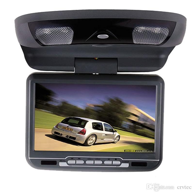 Single 9 inch car flip down dvd player USB SD FM IR Game roof mount car dvd player Black Tan Grey