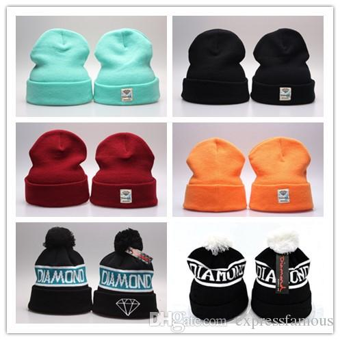 Diamond Supply co. beanie hat popular style skullies Beanies Snapbacks Hats Caps Winter Street Wear Beanies for men and women Free Shipping