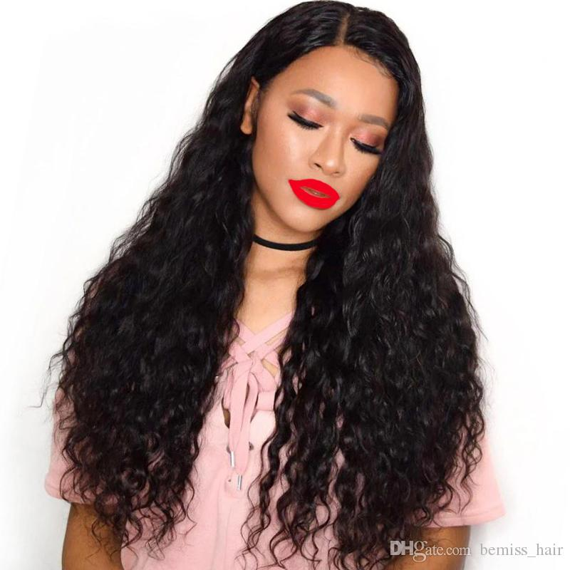 Deep Wave Hair Wigs Brazilian Human Hair Lace Wigs Unprocessed Deep Wave Lace Frontal Wigs Preplucked with Baby Hair DHgate Top Vendor
