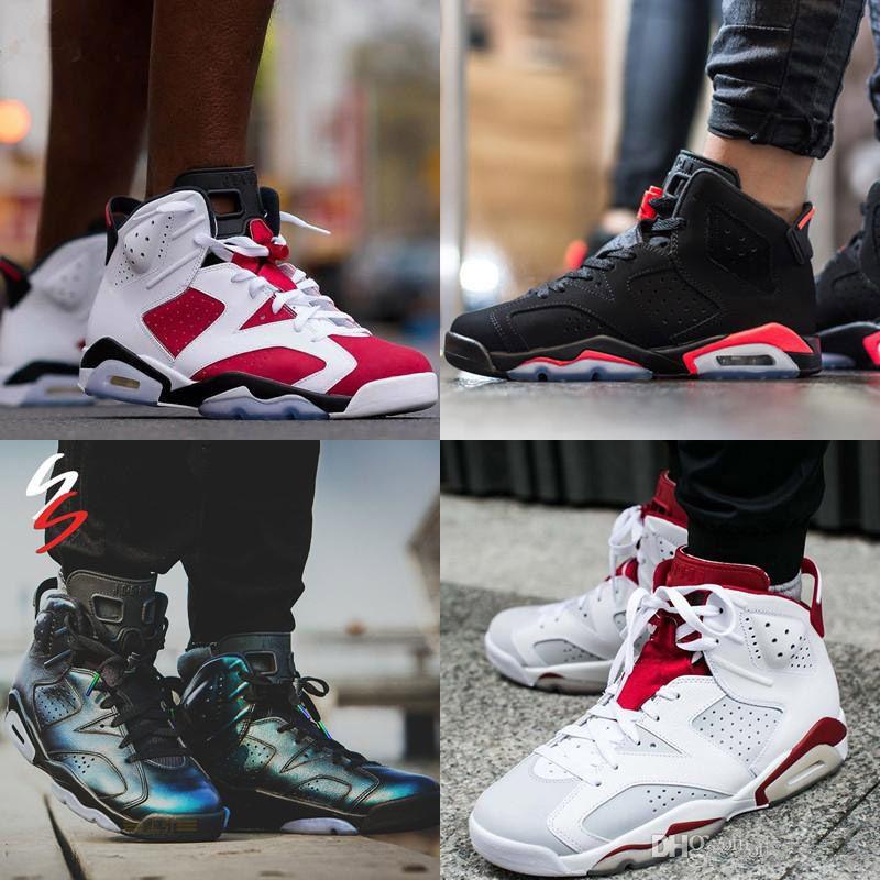 أحذية كرة السلة للرجال 6S السادس جودة عالية الجري أحذية رياضية للنساء الرجال المدربين ألعاب القوى أحذية 6 أحذية