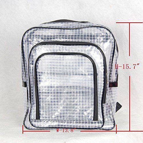 ясно ПВХ 40см * 35см * 15см сетка рюкзак, антистатический ПВХ мешок, мешок для чистых помещений инженера, прозрачный рюкзак сумка