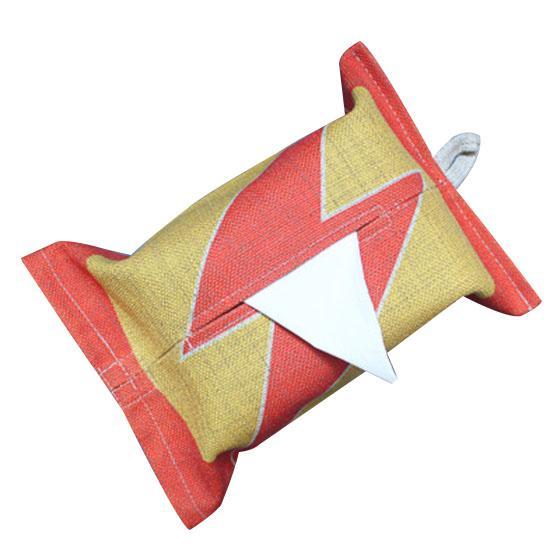 Dekorative Hängeohren Tissue Box, Serviettenhalter für Wohnzimmer, Auto, Küche gelb rot