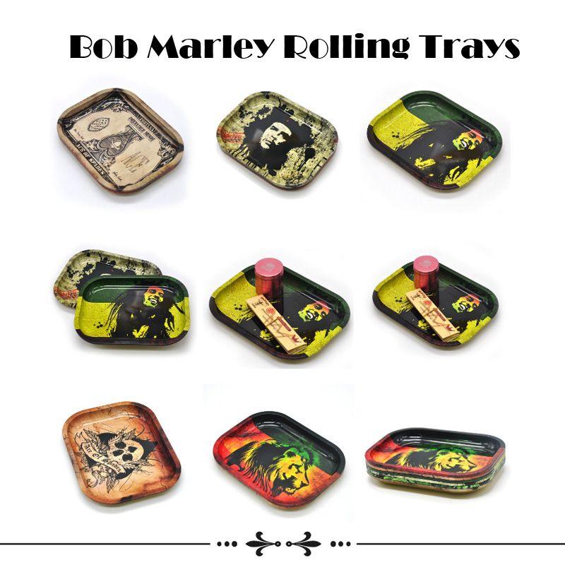 Bob Marley Rolling Tray Metal Tobacco Rolling Tray Travel Size 18cm*14cm*1.5cm Handroller Roll Trays Bob Marley Grinder