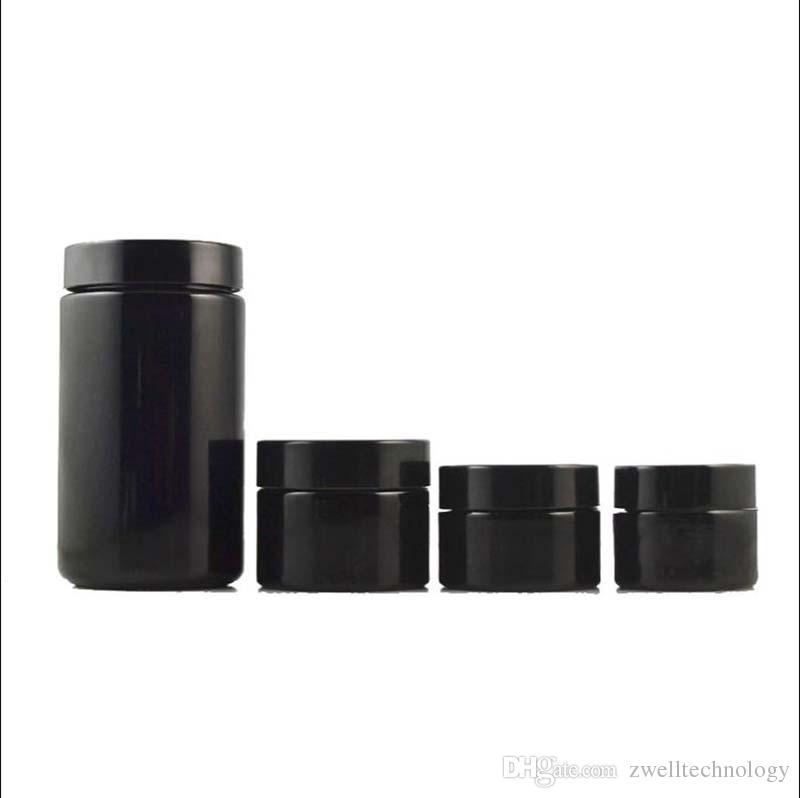 5 г 10 г 15 г Черная фиолетовая стеклянная банка с черным покрытием крем для глаз крем для глаз Бутылки для разлива и упаковки в отдельные бутылки