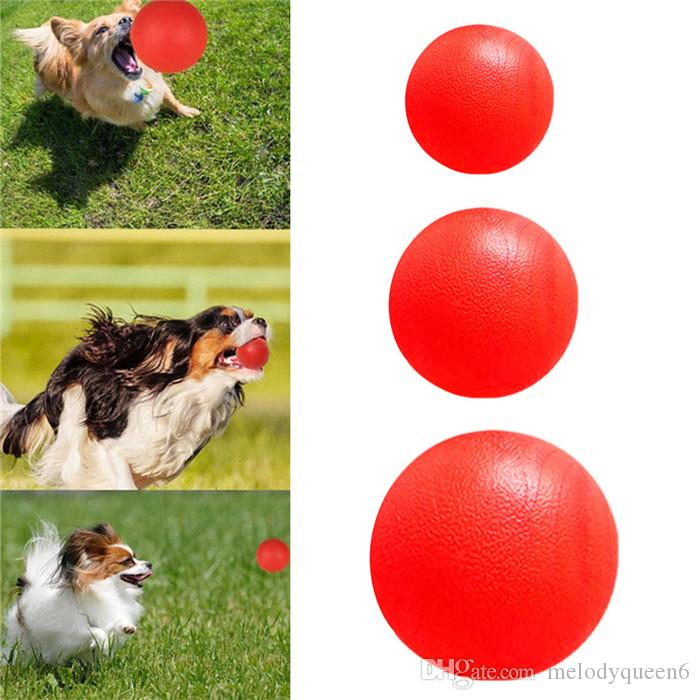 Indestructible Solid Rubber Ball Pet Dog Toy Training Chew Play Fetch Bite Toys For Pet Outdoor Sports