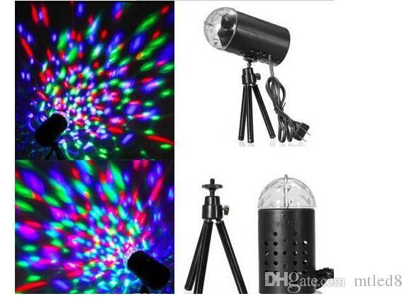 EU 220V /US 110V colours Mini Laser Projector 3w Light Full Color LED Crystal Rotating RGB Stage Light Home Party Stage Club DJ Show