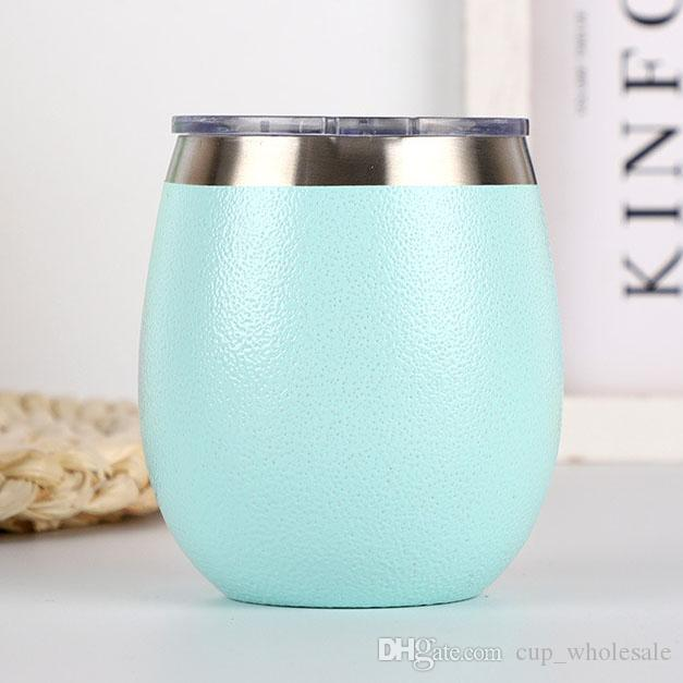 5 Colors 8oz Stainless Steel Stemless Wine Glass Cup Tumbler Double Wall Vacuum Insulated Beer Mugs Cups IN STOCK