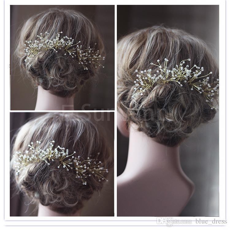 Новые Свадебные заколки для волос Зажимы Аксессуары для штучных венчания горячего Bridal невесты Кристалл волос шпилька Comb клип аксессуар