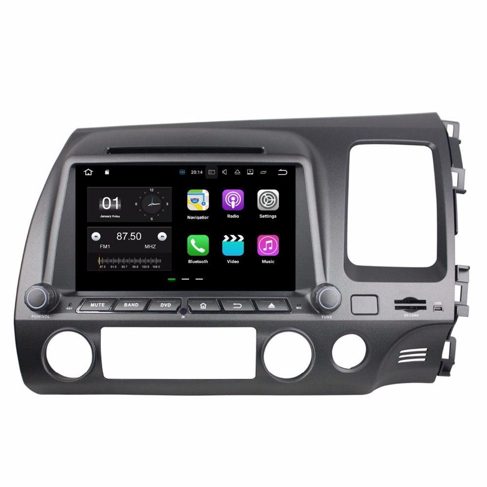 "1024 * 600 Android 7.1 Quad Core 2 din 8 ""Car DVD Car radio dvd GPS Multimedia Player لهوندا سيفيك RHD 2006 2007 2008 2009 2010"
