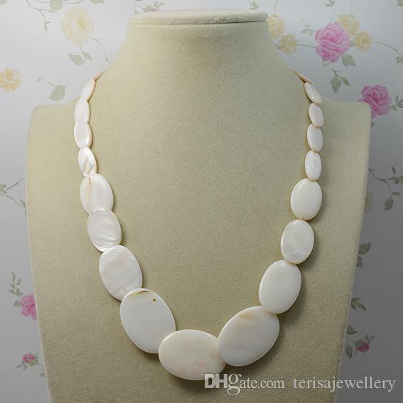 Monili della festa nuziale della signora di modo della collana naturale delle coperture di colore bianco, nuovo trasporto libero della collana del regalo della donna