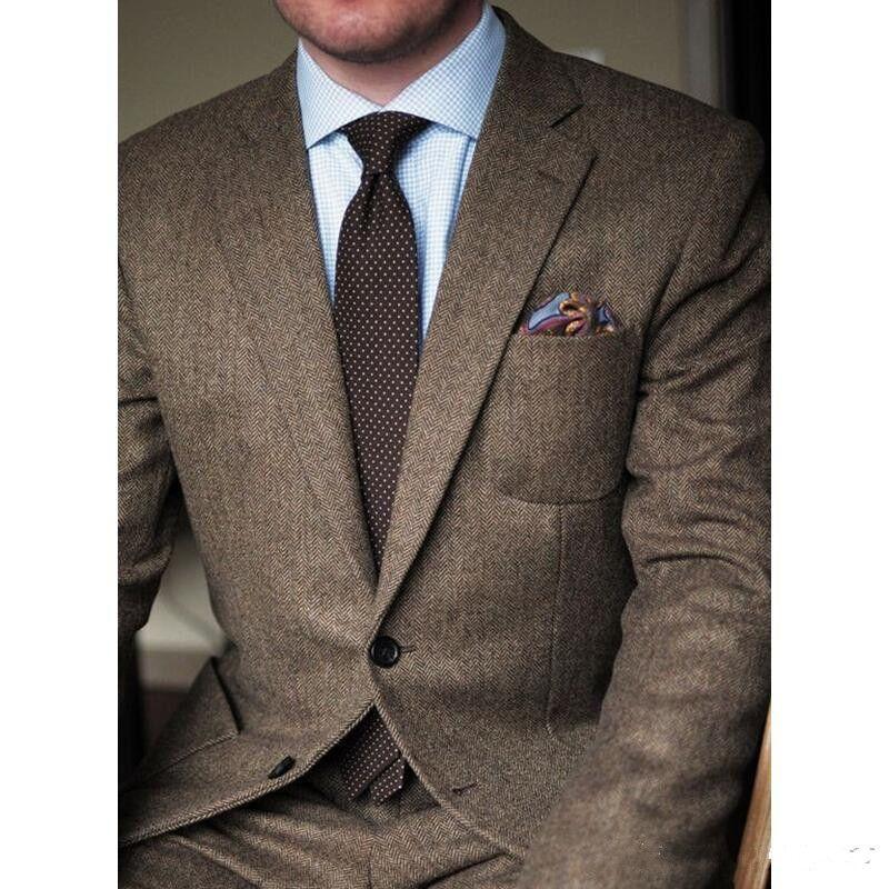 New Classic Design Bräutigam Smoking Groomsmen Best Man Suit Mens Hochzeit Anzüge Bräutigam Anzüge (Jacke + Hose) 309