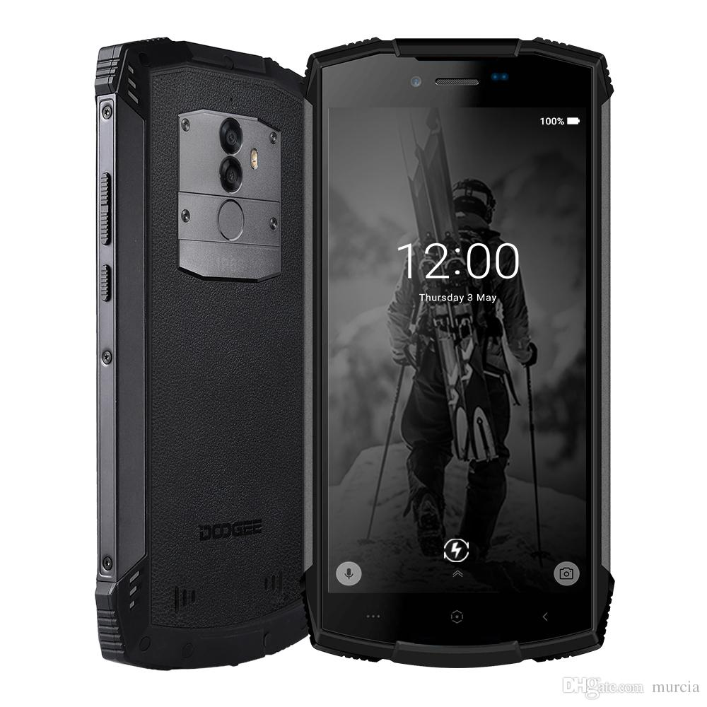 "DOOGEE S55 IP68 Su Geçirmez 4 GB 64 GB 5.5 ""HD + Cep Telefonu Android 8.0 Octa Çekirdek smartphone 13MP Kamera 5500 mAh 5V2A Hızlı Şarj"